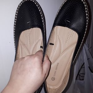 Classic editions size 10 leather loafers